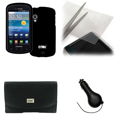 Empire for Sam Cell Phone Stratosphere Hard Case Black+Pouch+Generic Screen Guard+Recharger at Sears.com