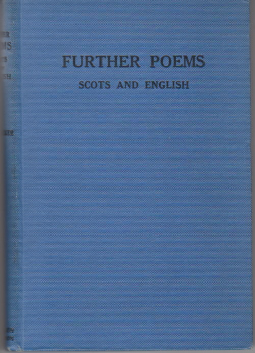 """Further Poems in Scots and English, """"Cocker, W D"""""""