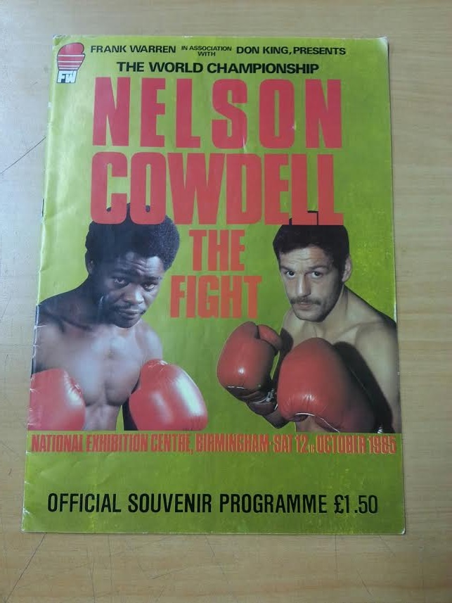 1985 Boxing Programme - Nelson Cowdell The Fight