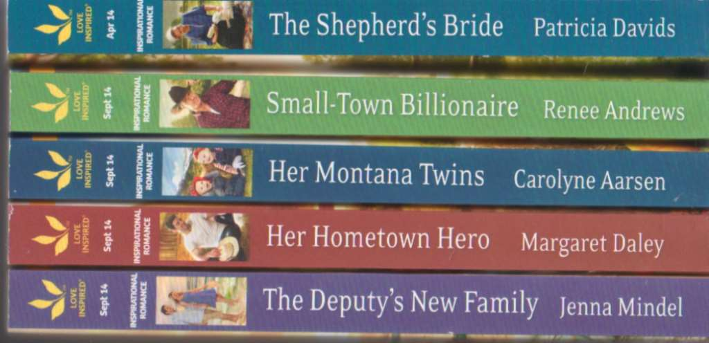 """""""5 New Harlequin Love Inspired Inspirational Romance Novels Together: The Deputy's New Family, The Hometown Hero, Her Montana Twins, Small-Town Billionaire: The Shepard's Bride"""", """"Jenna Mindel, Margaret Daley, Carolyne Aarsen, Renee Andrews, Patricia Davids"""""""