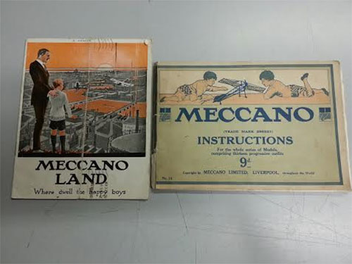 Lot of 2 Meccano Booklets:  Meccano Land and Meccano Instructions No. 14