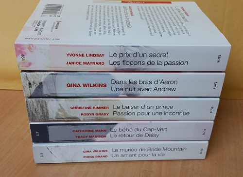 """""""Lot of 5 Harlequin Passions Paperbacks from 12/14 & 01/15 - #464, 466, 469, 471, & 473 � French Language"""""""