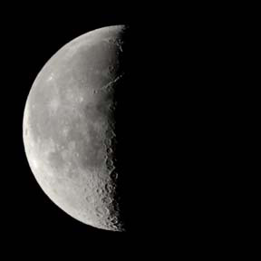 Fourth Quarter Moon Last Quarter from N Hemisphere
