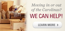 Moving in or out of the Carolinas? We can help. moving boxes