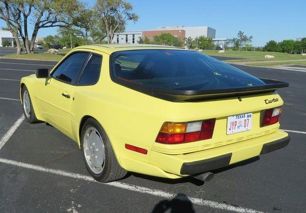 Summer Yellow 951: 1987 Porsche 944 Turbo - Moto Roster