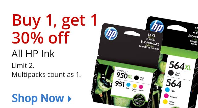 B1G1 30% Off HP Ink SHOP NOW