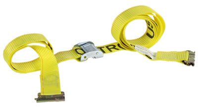 2'' x 12' Cam Buckle E-Track Tie Down Strap (Yellow)