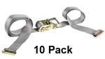 2'' x 16' E-Track Ratchet Strap Tie Down (10 Pack) image