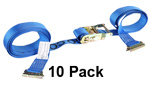 2'' x 20' E-Track Ratchet Strap Tie Down (10 Pack) image