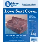 Plastic Love Seat Cover - 1.0 mil Polyethylene image