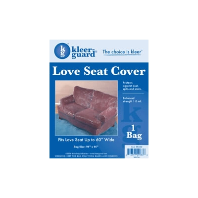 Plastic Love Seat Cover - 1.0 mil Polyethylene