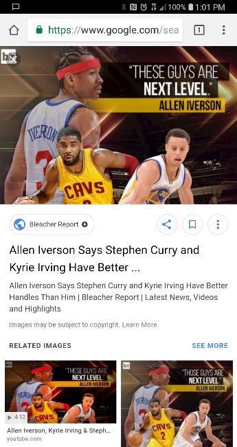 9b928f0db567 Is this so Allen Iverson. I grew up watching him play and saw these two  guys play as well. I think Kyrie has the handles but Iverson was quicker  than all of ...