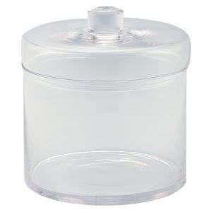 "Diamond Star Glass Apothecary Jar with Lid Clear (8.5""x8"")"