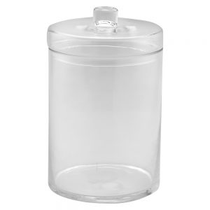 "Diamond Star Glass Apothecary Jar with Lid Clear (12.5""x8"")"