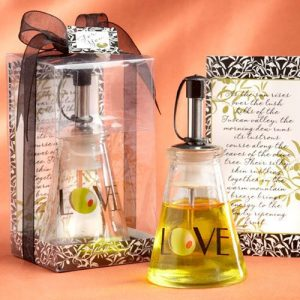 """""""Olive You"""" Glass Oil Bottle in Gift Box"""