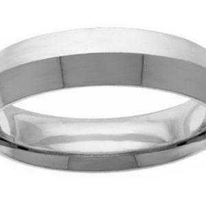 5mm Knife-Edge White Gold Wedding Band Ring