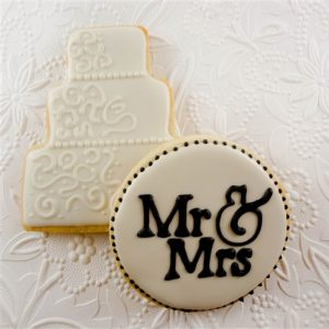 Wedding Cake Iced Cookie Favors
