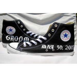 Grooms Painted Converse Sneakers (more colors available)