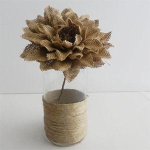 Burlap Flower Centerpieces