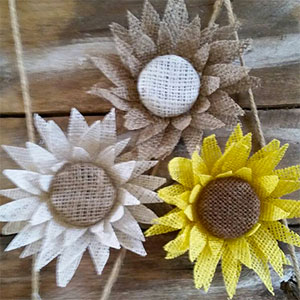 Rustic Burlap Sunflower
