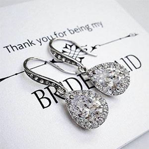 Teardrop Bridesmaid Earrings