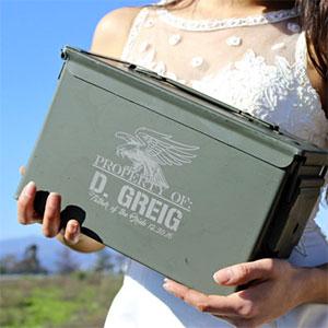Personalized Ammo Box for Groomsmen, FOB, FOG