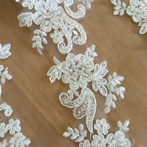 Scalloped Beaded Lace Trim