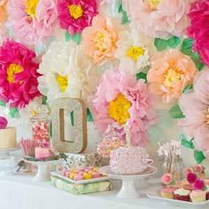 Paper Flower Wall Backdrop