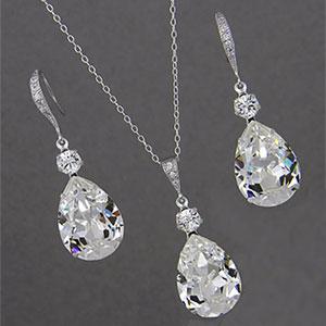 Crystal Drop Wedding Set