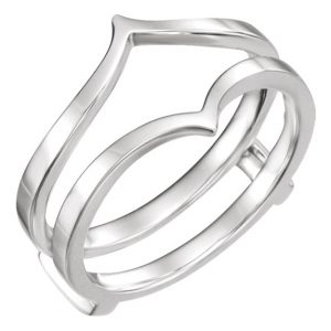 14K White Gold Ring Guard