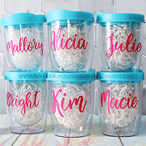 Personal Wine Tumblers with Lids