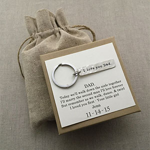 Father of the Bride Silver Keychain