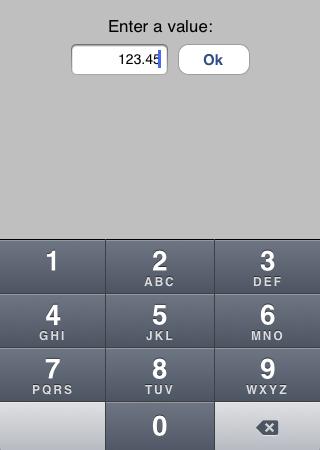 Decimal text input