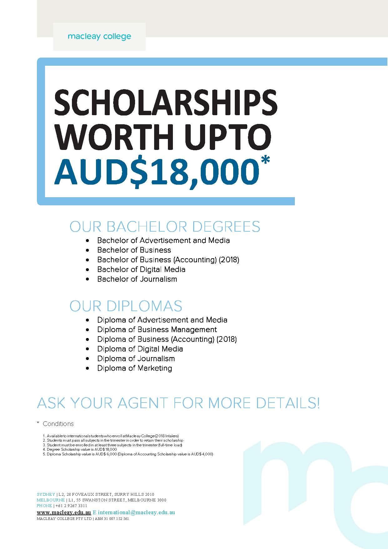 Mac scholarship flyer 2018   agent