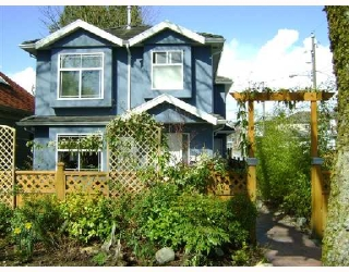 Main Photo: 1851 E 13TH Avenue in Vancouver: Grandview VE House 1/2 Duplex for sale (Vancouver East)  : MLS® # V700667