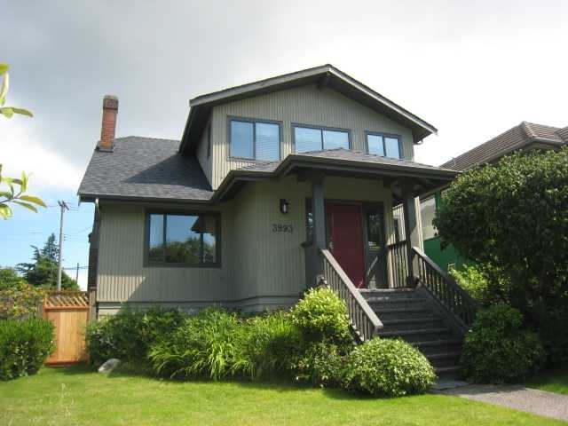 Main Photo: 3993 W 31st Ave in Vancouver: Dunbar House for sale (Vancouver West)  : MLS®# V875406