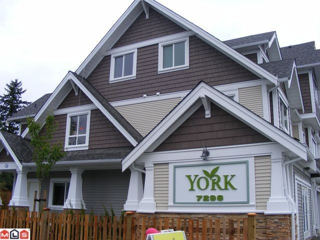 "Main Photo: # 9 7298 199A ST in Langley: Willoughby Heights Condo for sale in ""YORK"" : MLS® # F1015159"