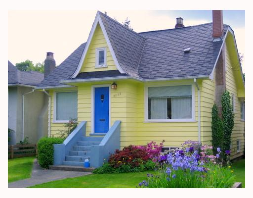 Main Photo: 3055 WATERLOO Street in Vancouver: Kitsilano House for sale (Vancouver West)  : MLS® # V713264