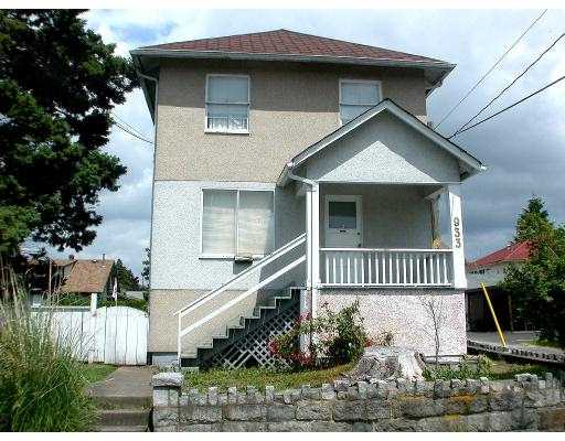 Main Photo: 933 10TH ST in New Westminster: West End NW House Triplex for sale : MLS®# V540895