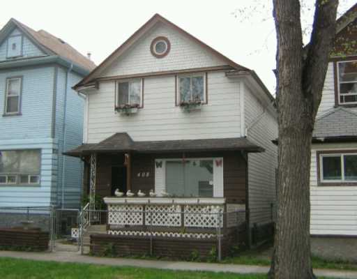 Main Photo: 408 POWERS Street in WINNIPEG: North End Single Family Detached for sale (North West Winnipeg)  : MLS(r) # 2707992