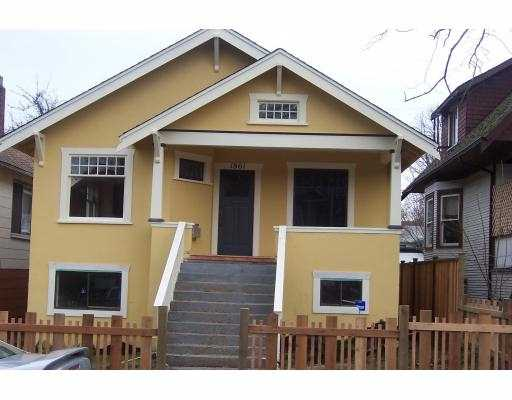 Main Photo: 1861 WILLIAM ST in Vancouver: Grandview VE House for sale (Vancouver East)  : MLS®# V575068
