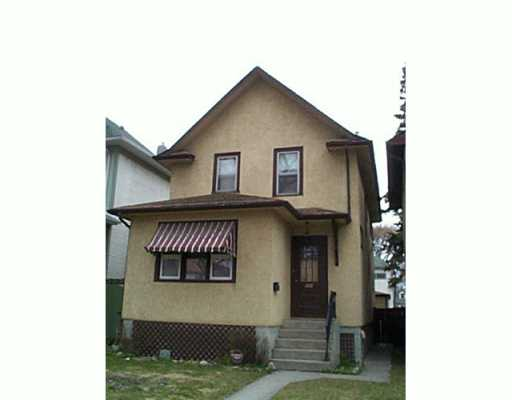Main Photo:  in Winnipeg: North End Single Family Detached for sale (North West Winnipeg)  : MLS® # 2505553