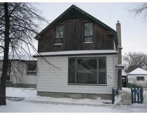 Main Photo: 933 ASHBURN Street in WINNIPEG: West End / Wolseley Residential for sale (West Winnipeg)  : MLS® # 2720077
