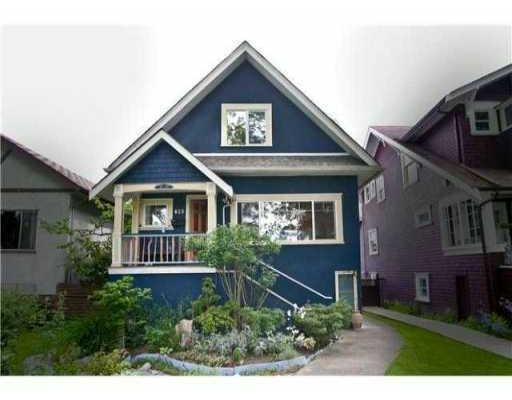 Main Photo: 823 W 20TH AV in Vancouver: House for sale : MLS® # V851816