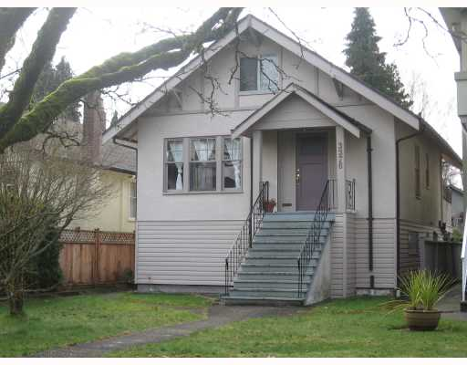 Main Photo: 3376 W 26TH Avenue in Vancouver: Dunbar House for sale (Vancouver West)  : MLS® # V695691