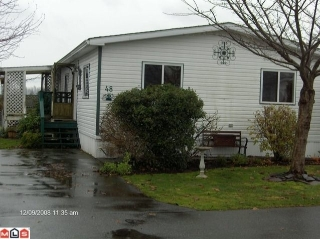 "Main Photo: 48 41168 LOUGHEED Highway in Mission: Dewdney Deroche Manufactured Home for sale in ""Oasis Estates"" : MLS®# F1001835"