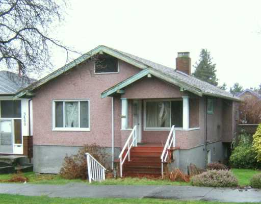 Main Photo: 3454 E GEORGIA ST in Vancouver: Renfrew VE House for sale (Vancouver East)  : MLS® # V573560