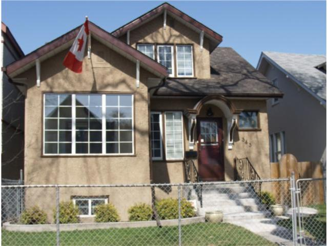 Main Photo: 343 Redwood Avenue in WINNIPEG: North End Residential for sale (North West Winnipeg)  : MLS®# 1006930