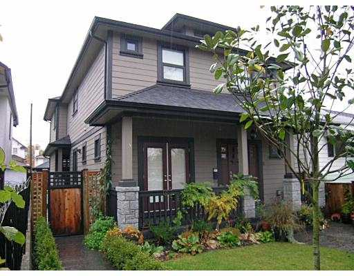 Main Photo: 2171 CHARLES Street in Vancouver: Grandview VE House 1/2 Duplex for sale (Vancouver East)  : MLS®# V742808