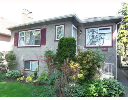 Main Photo: 2335 E 3RD Avenue in Vancouver: Grandview VE House for sale (Vancouver East)  : MLS® # V768111